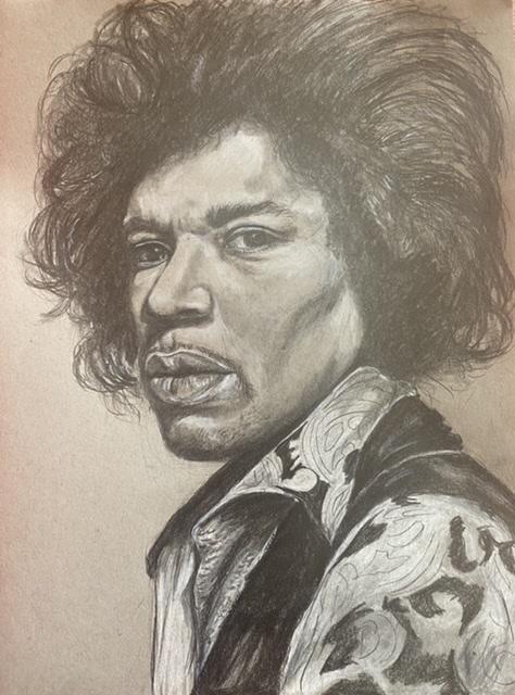 Jimi Hendrix por Linnette555